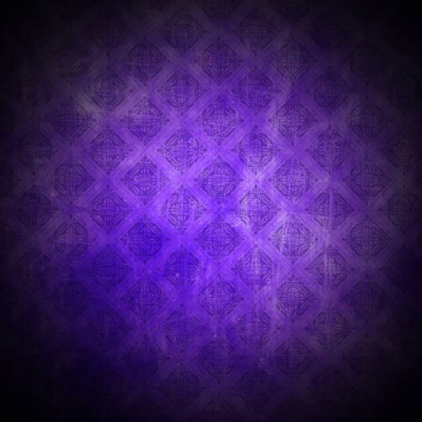 grunge-stil lila muster hintergrund - damast wand stock-fotos und bilder