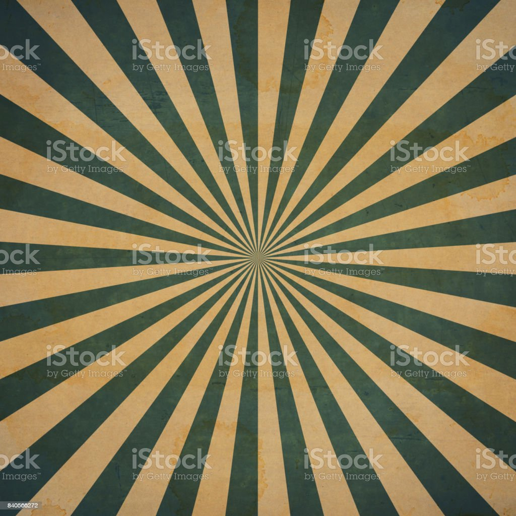 Grunge sunburst vintage background and texture stock photo