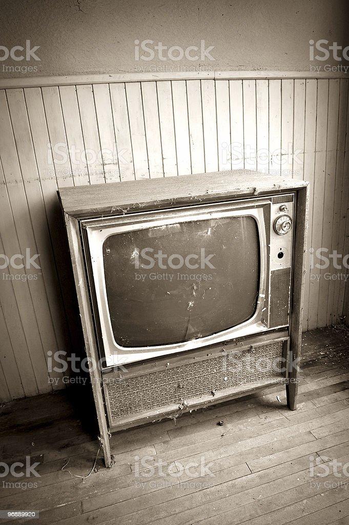 Grunge Television royalty-free stock photo
