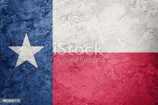 istock Grunge Texas state flag. Texas flag background grunge texture. 880855170