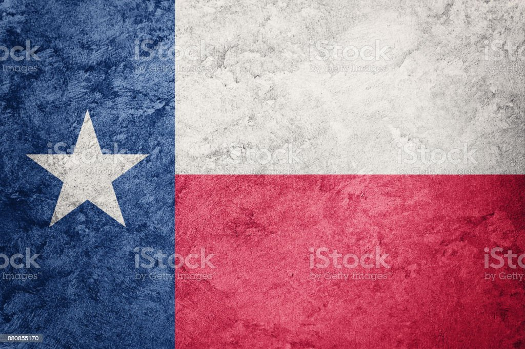 Grunge Texas Staatsflagge. Texas Flagge Grunge Hintergrundtextur. – Foto