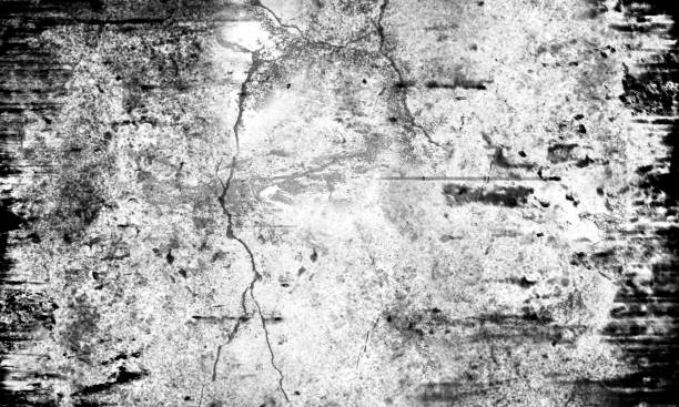 Grunge Texture Background with Rough Edges - Black and White stock photo