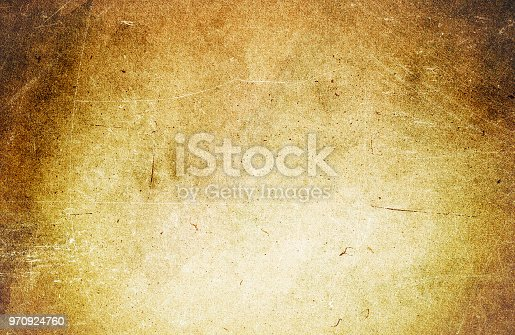 istock Grunge texture of old brown paper, dust, scratches 970924760