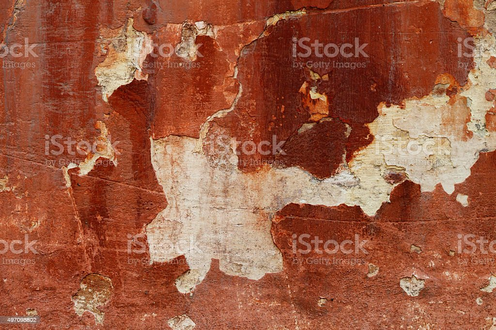 grunge texture of old red wall stock photo