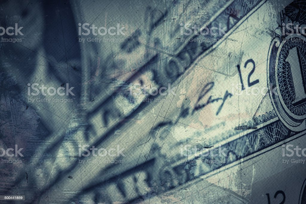 Grunge textured US Dollar background stock photo