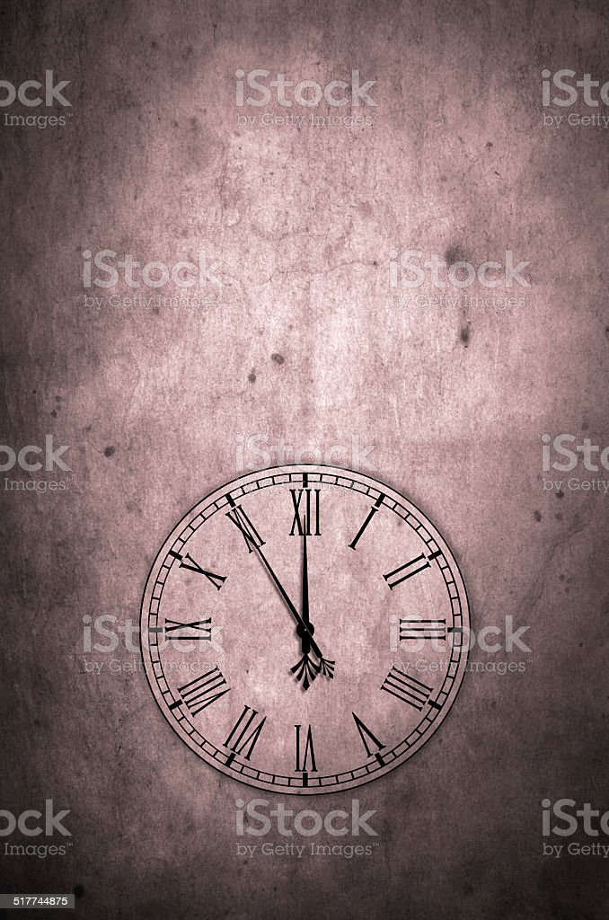 Grunge Time stock photo
