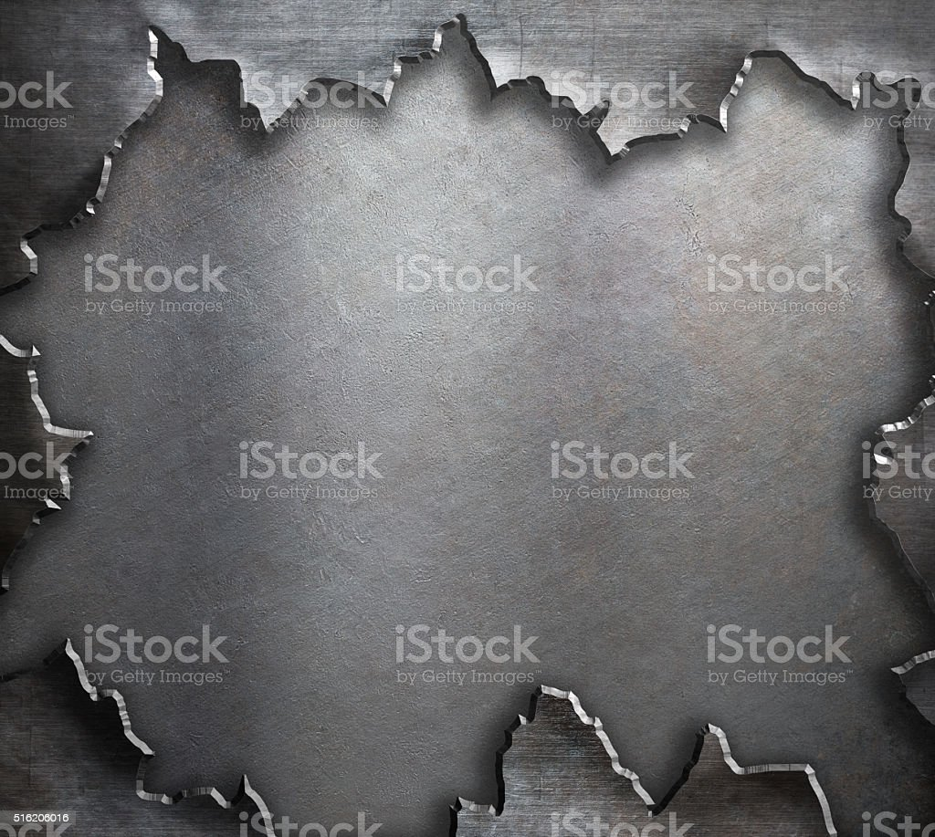 grunge torn metal background stock photo