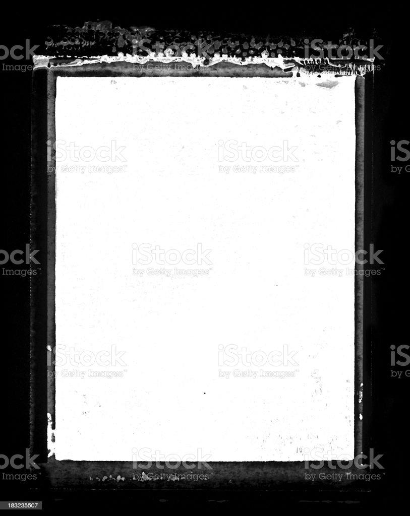 Grunge Transfer Border or Frame royalty-free stock photo