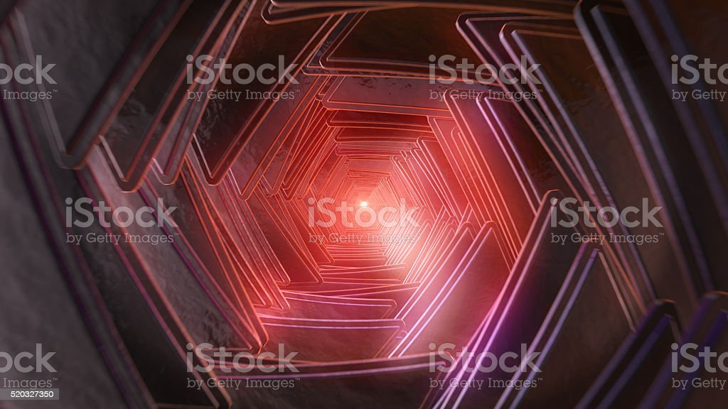 Grunge tunnel vision stock photo