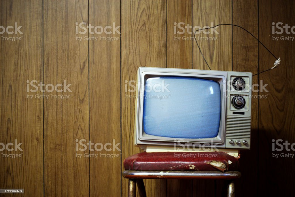 Grunge tv stock photo