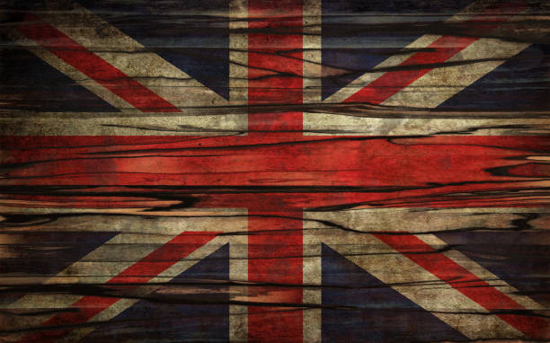 Grunge UK flag stock photo