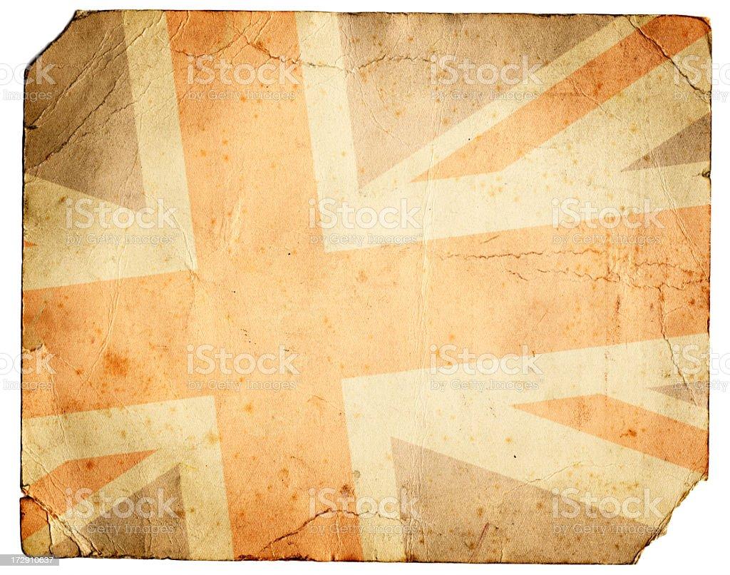 Grunge Union Jack royalty-free stock photo