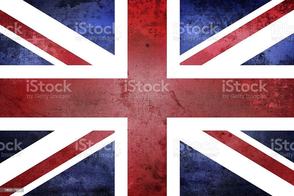 Grunge United Kingdom Flag stock photo