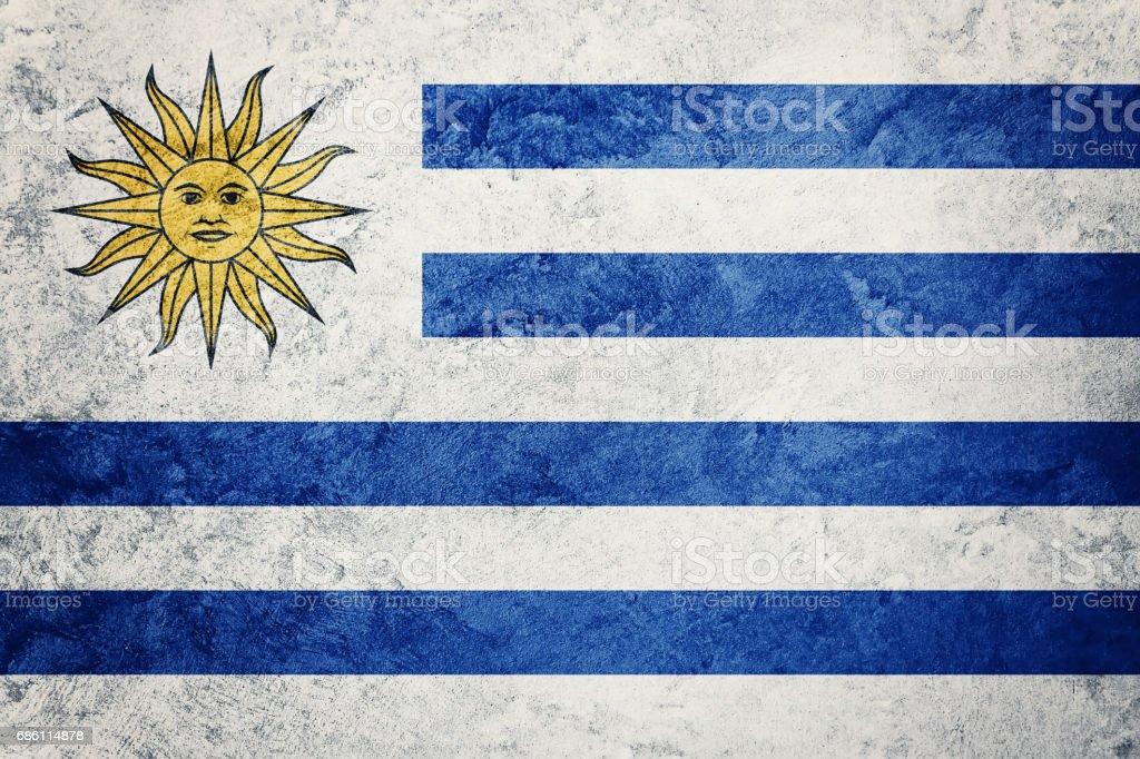 Bandera de Uruguay del Grunge. Bandera de Uruguay con textura grunge. - foto de stock