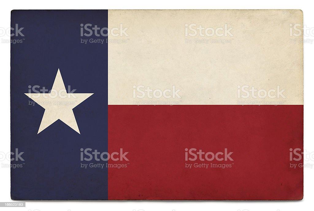 Bandera de Grunge de Estados Unidos en blanco: Texas - foto de stock