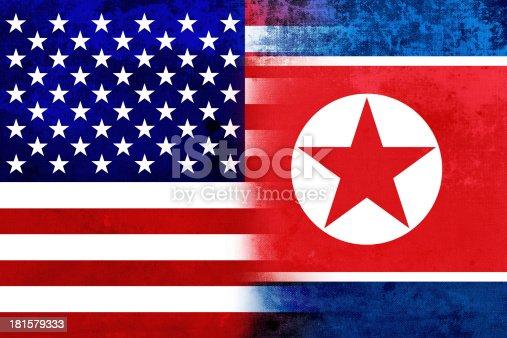 953130996istockphoto Grunge USA and North Korea Flag 181579333