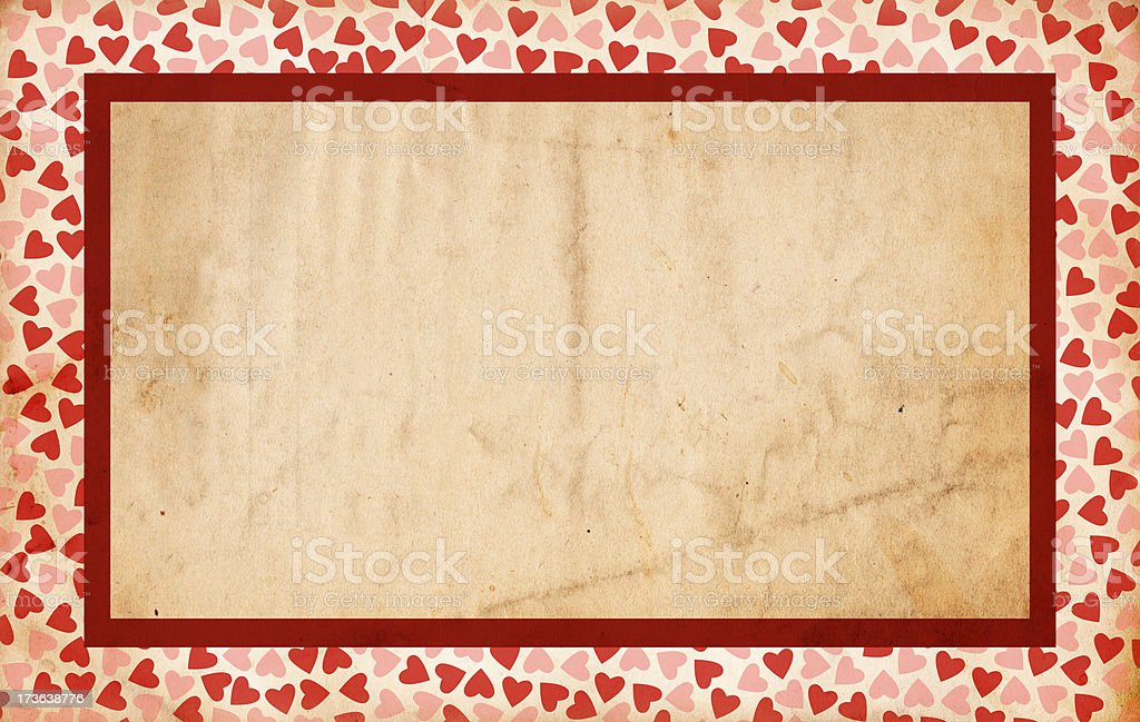 Grunge Valentine Paper XXXL royalty-free stock photo