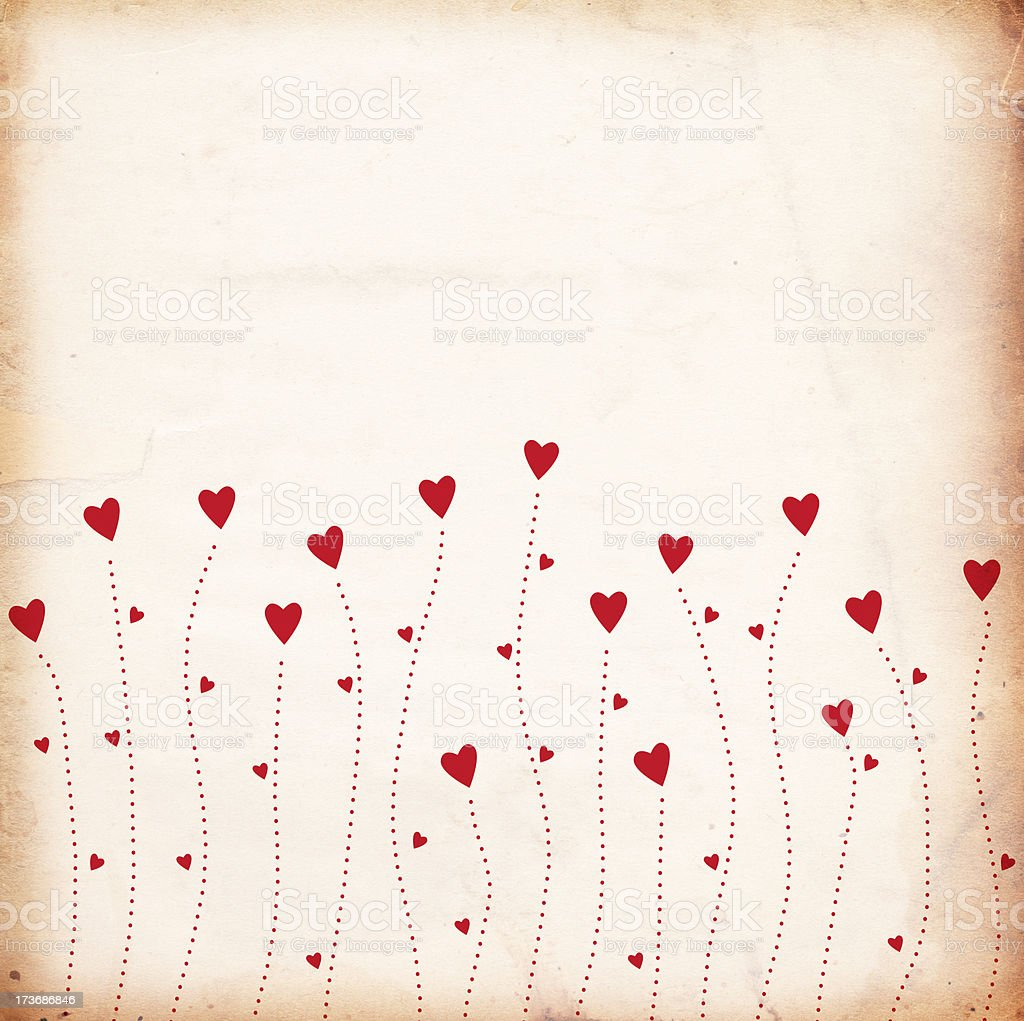 Grunge Valentine Paper XXXL stock photo