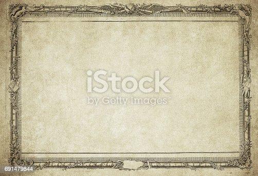 istock grunge vintage frame 691479844