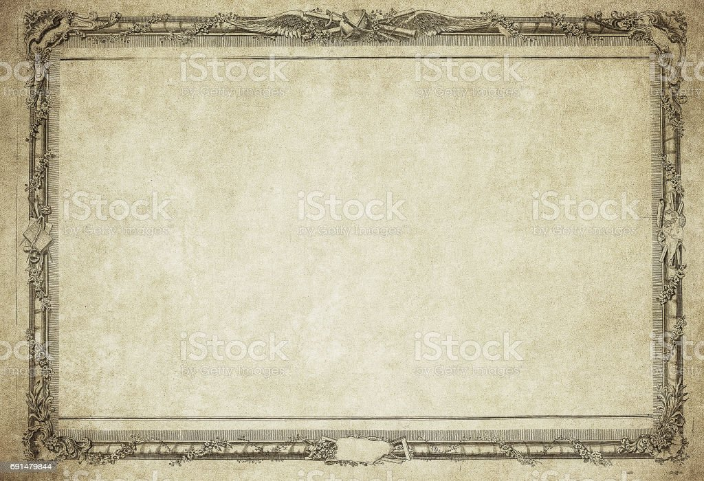 grunge vintage frame stock photo