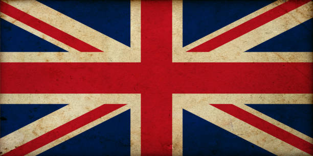 Grunge vintage Great Britain flag stock photo