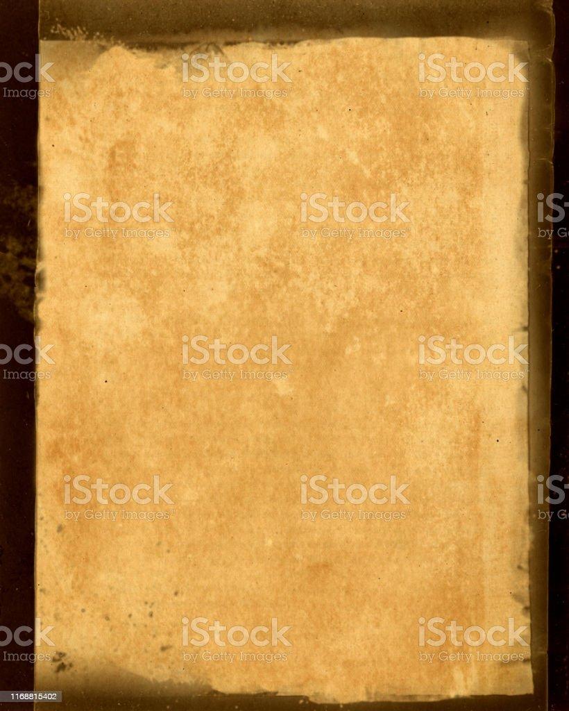 Grunge vintage paper background with negative border