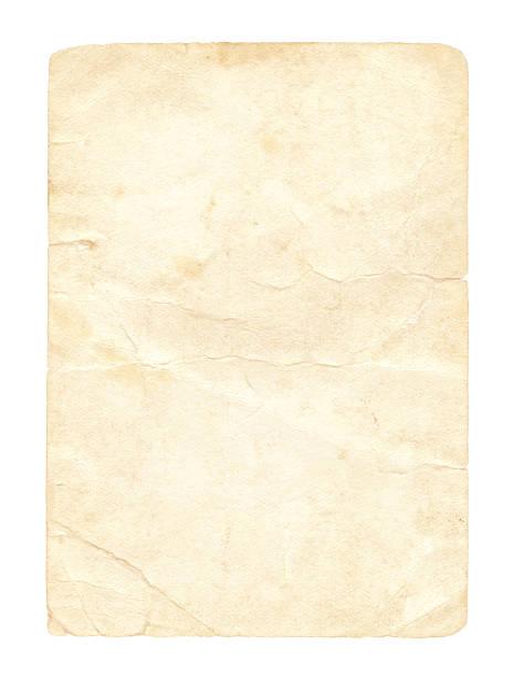 grunge vintage papier isoliert (clipping-pfad enthalten - klapprahmen stock-fotos und bilder
