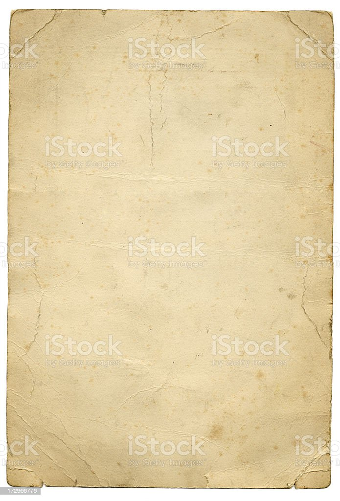 Grunge vintage paper royalty-free stock photo