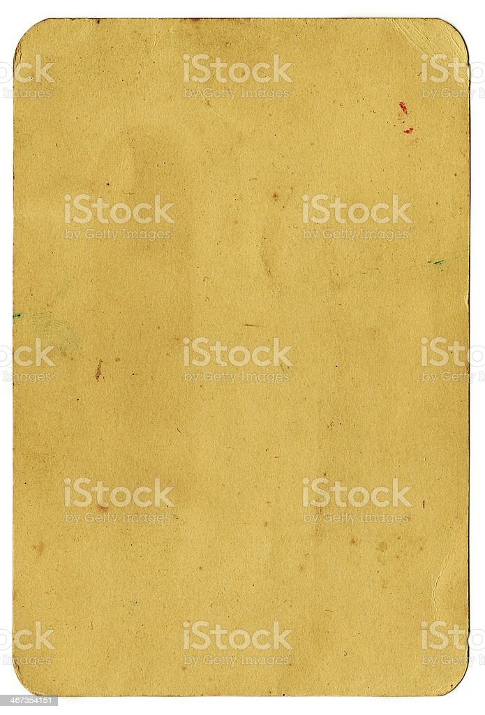 Grunge vintage paper (includes Clipping Path) royalty-free stock photo