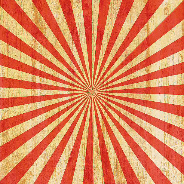 grunge vintage sunburst background and texture - circus background stock photos and pictures