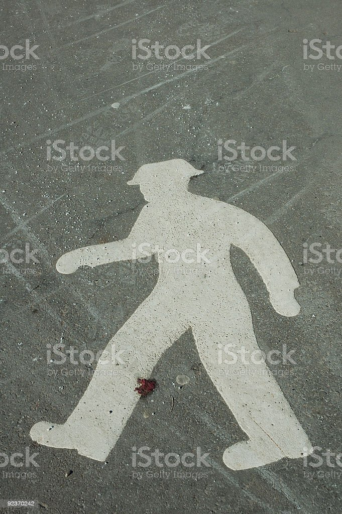 Grunge walker sign stock photo