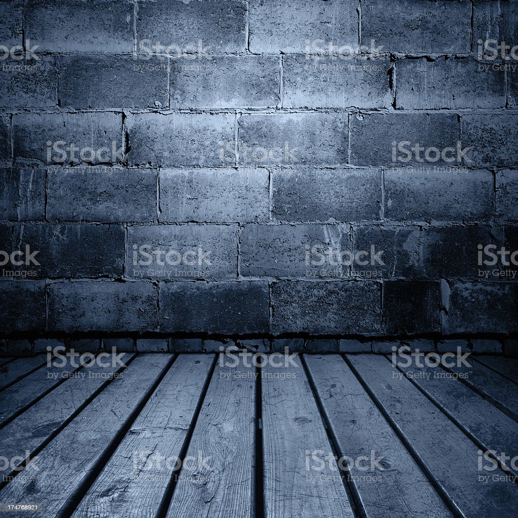 Grunge Wall And Floor Background Stock Photo & More Pictures of ...