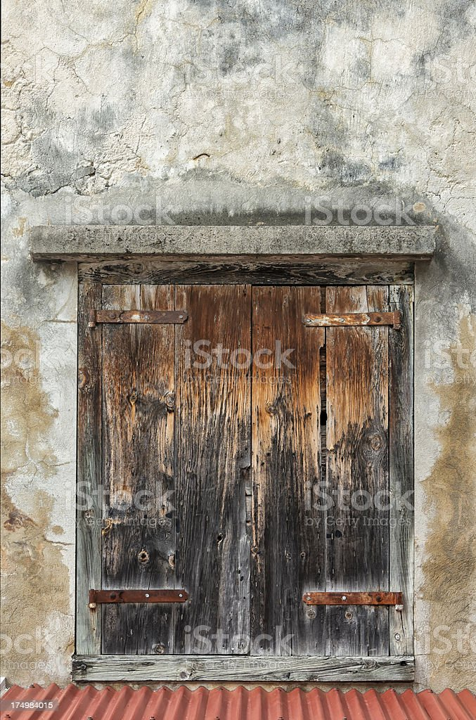 Grunge Wall and Window royalty-free stock photo