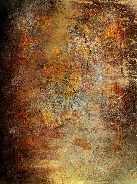 grunge wall background - rusty stock photos and pictures