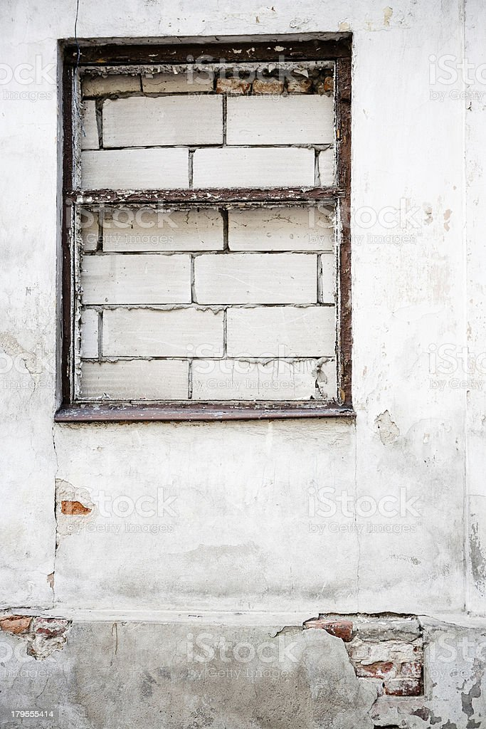 Grunge wall of the old house. royalty-free stock photo