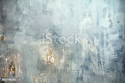 Grunge wall painted blue texture