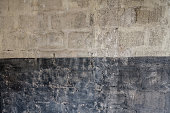 Background of white and dark grunge wall texture