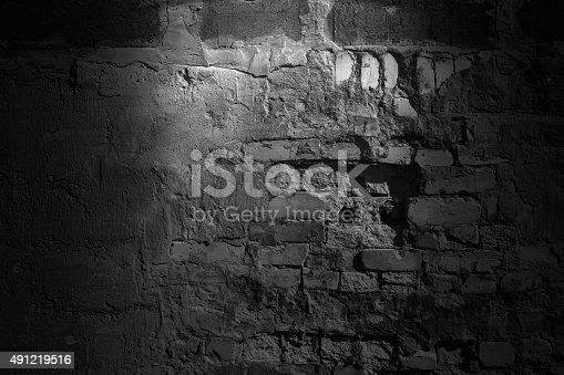 Background. Dark concrete wall.