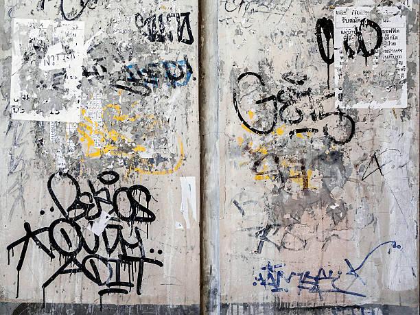 グランジテクスチャ背景にバンコクの壁 - street graffiti ストックフォトと画像