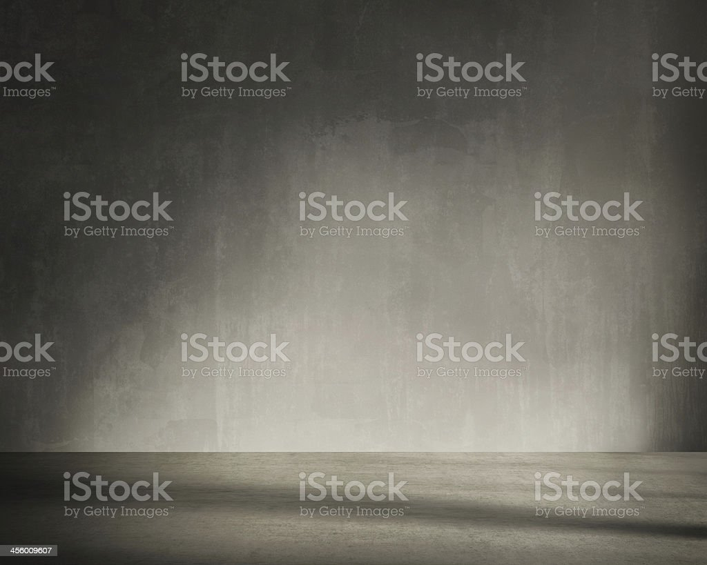 Grunge wall, vintage aged  interior stock photo