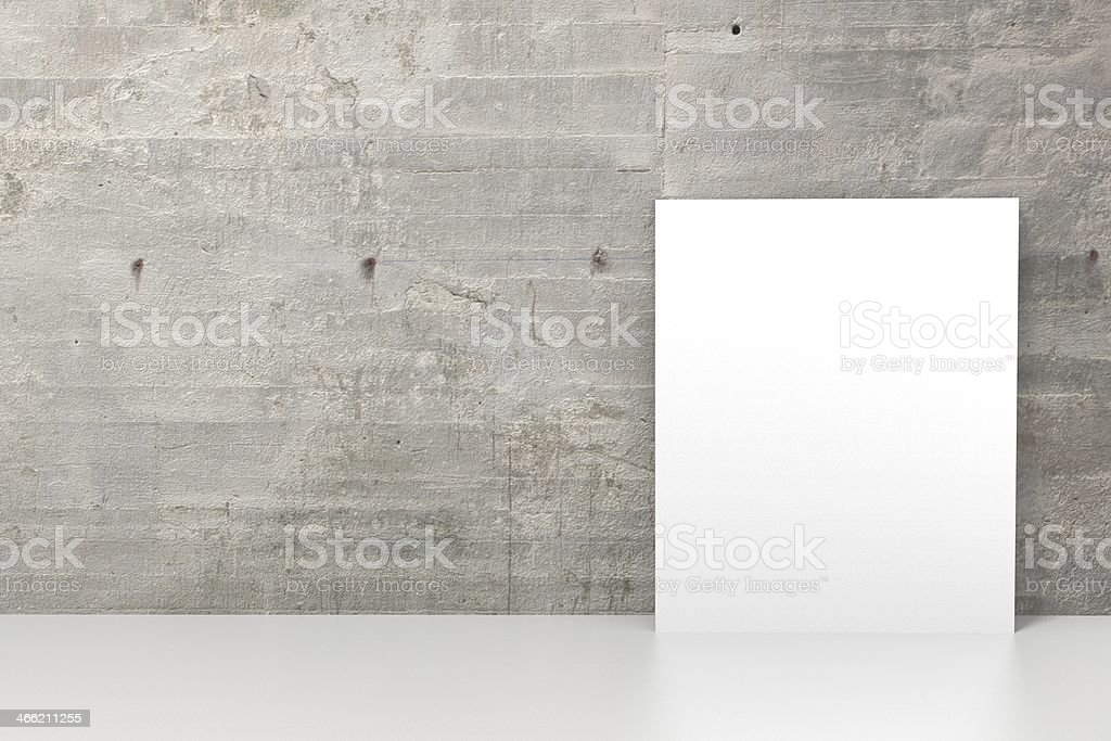 Grunge wall with blank picture frame royalty-free stock photo