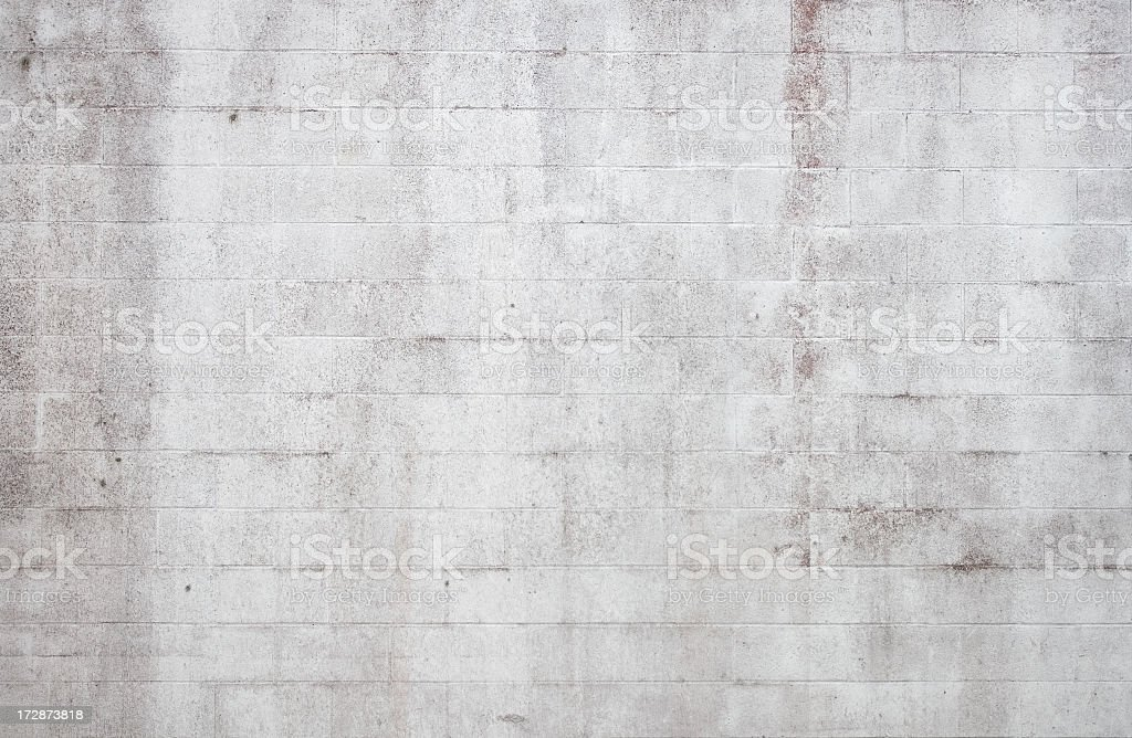 Grunge wall with red stain stock photo
