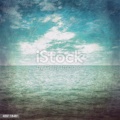 1183352589 istock photo grunge wallpaper sea and blue sky with cloud vintage 459118481