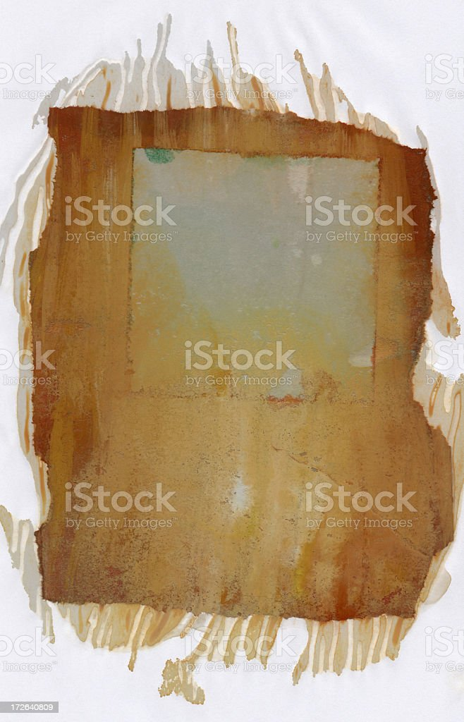 Grunge wet watercolor frame XXXXL royalty-free stock photo