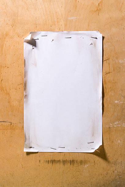 Grunge white notice stock photo