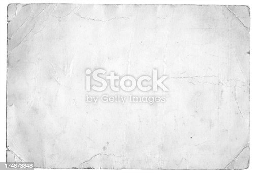 istock Grunge white paper 174673848