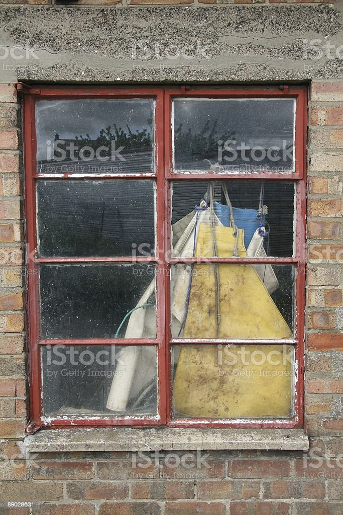 Grunge Window stock photo
