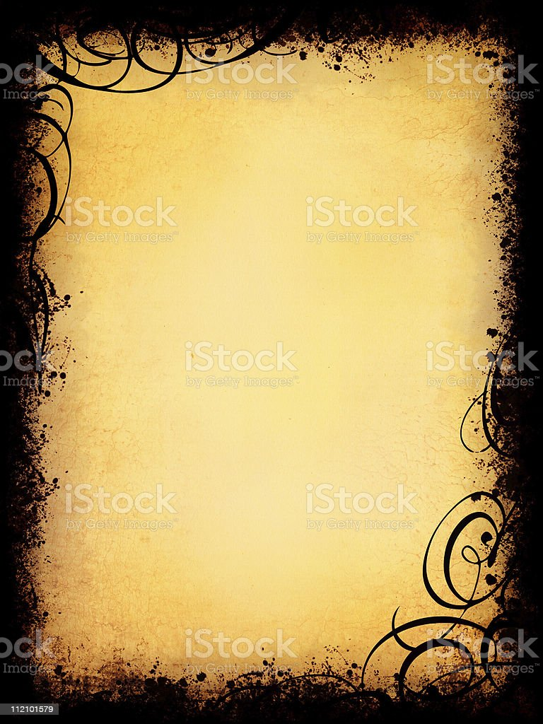 Grunge with swirls royalty-free stock photo