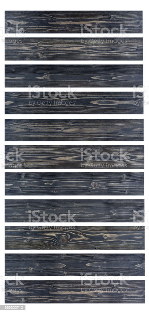 Grunge wood table background. Sunface wooden plank black texture background isolated on white background. zbiór zdjęć royalty-free
