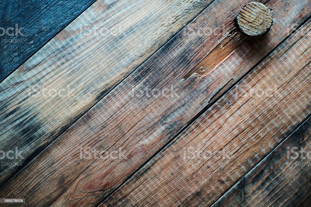 Grunge wooden background with a cork. - foto stock